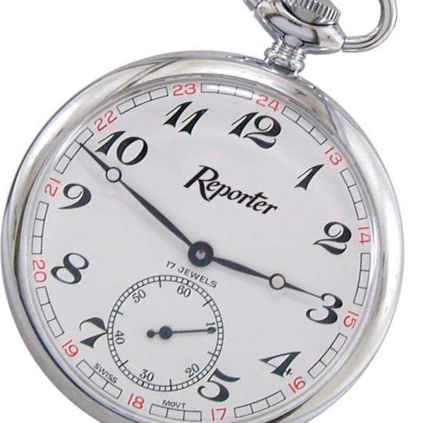 Orologio da tasca Reporter time acciaio