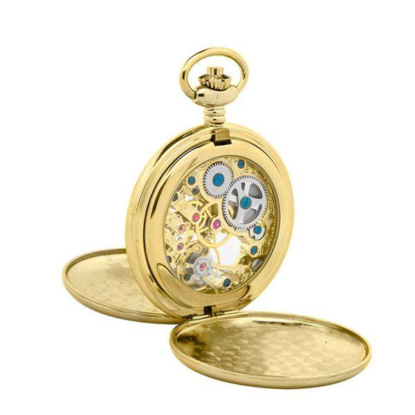 Orologio da tasca Reporter Time placcato P-1103-0-PL RETRO