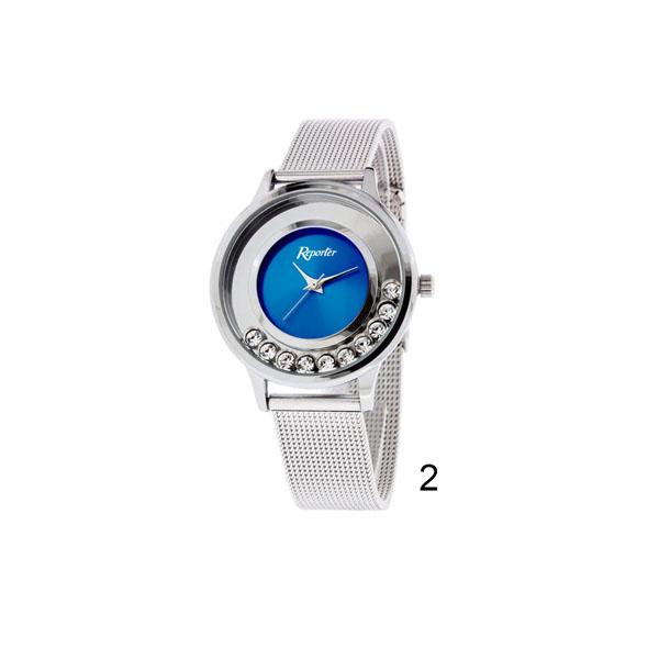 orologio donna low cost Reporter con pietre quadrante blu