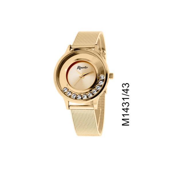 orologio donna low cost Reporter con pietre rose gold